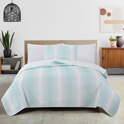 Great Bay Home Ombre Striped Reversible Quilt Set