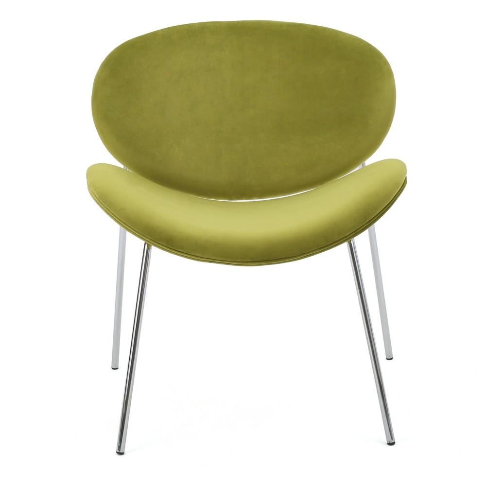Janet New Velvet Chair - Green - Christopher Knight Home