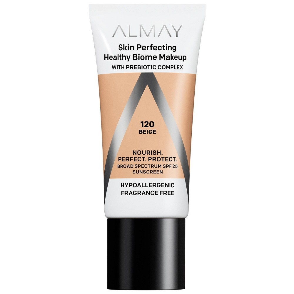 Almay Skin Perfecting Healthy Biome Foundation Makeup 120 Beige 1 Fl Oz