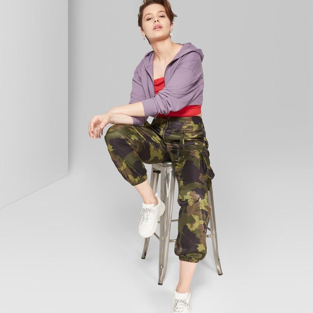 Women's Camo Print Cargo Pants - Wild Fable Green 6