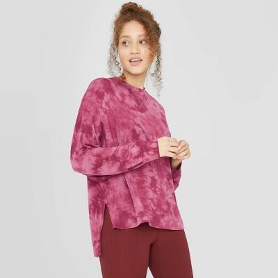 Women's Cozy Long Sleeve Sweatshirt - JoyLab™ Bordeaux L