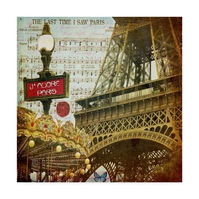 "35"" x 35"" Eiffel Romance Vi by Sandy Lloyd - Trademark Fine Art"