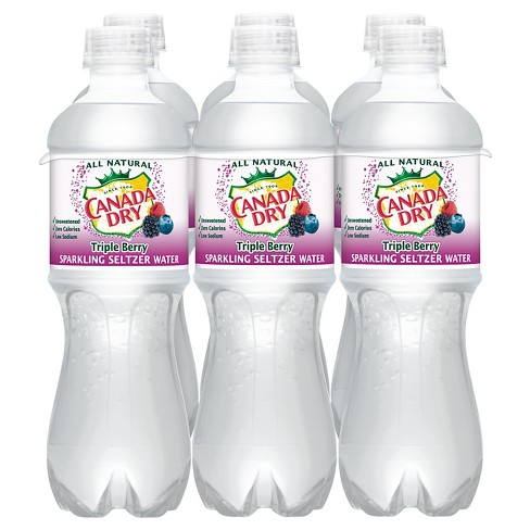 Canada Dry Triple Berry Sparkling Seltzer Water - 6pk/0.5 L Bottles - image 1 of 1