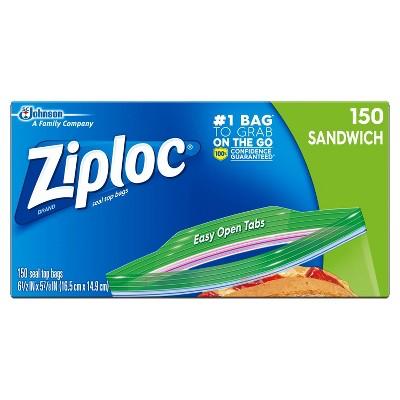 Ziploc Easy to Open Sandwich Bags - 150ct