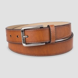 Men's 32mm Reversible Cut Edge with Stitch Belt - Goodfellow & Co™ Brown