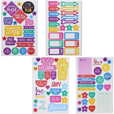 1012x Colorful Daily and Weekly Planner Stickers Labels for Calendar, Scrapbook
