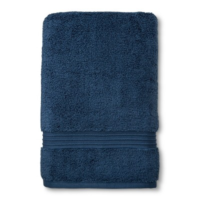 Spa Stripe Bath Sheet Dark Blue - Fieldcrest®