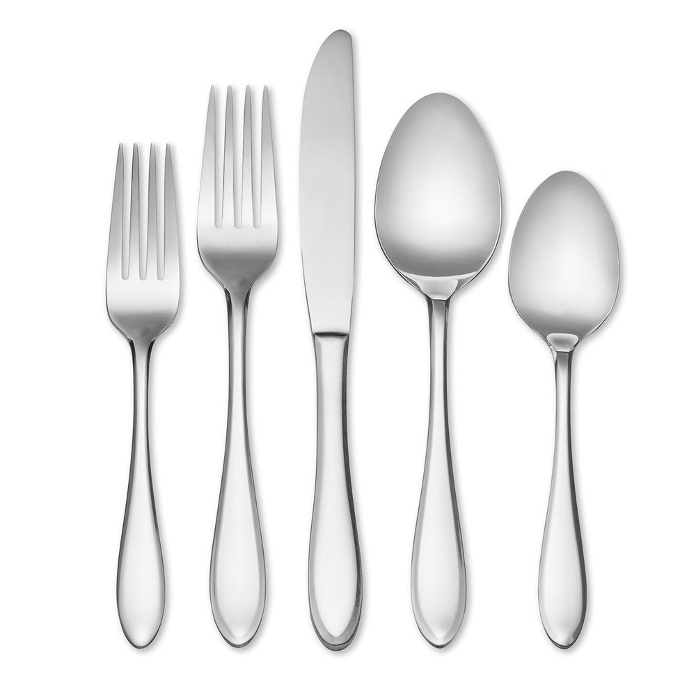 Image of Hampton Forge 20pc Stainless Steel Conifer Silverware Set, Silver