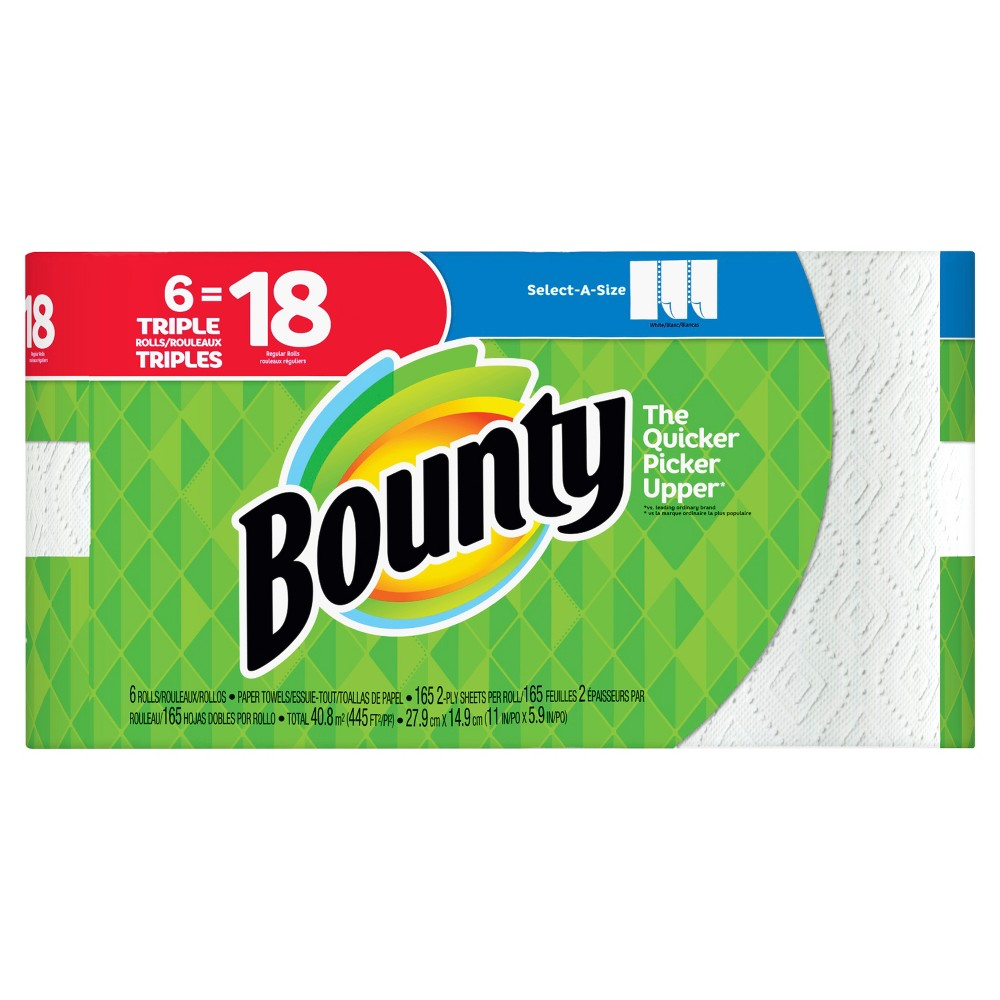 Best Buy Bounty Select A Size White Paper Towels 6 Triple Roll