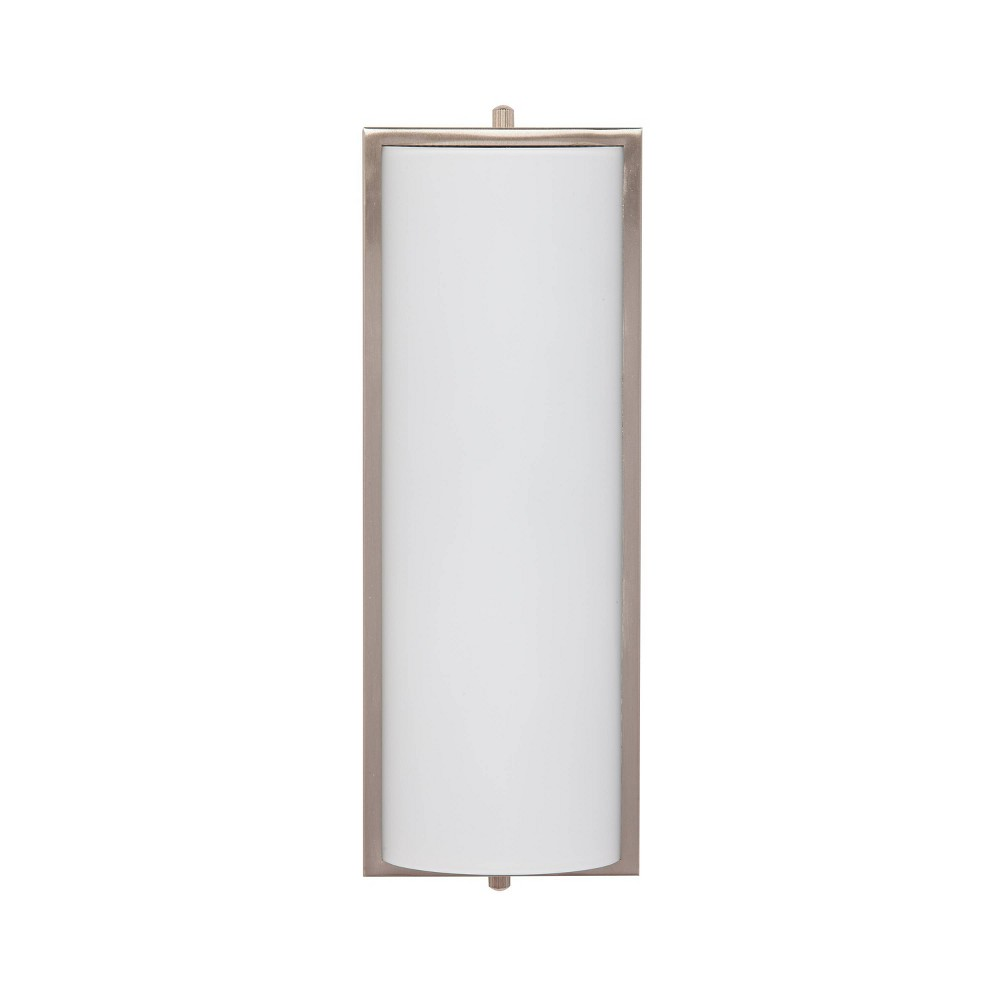 13 34 Justel Glass Sconce Lamp White Includes Energy Efficient Light Bulb Aiden Lane