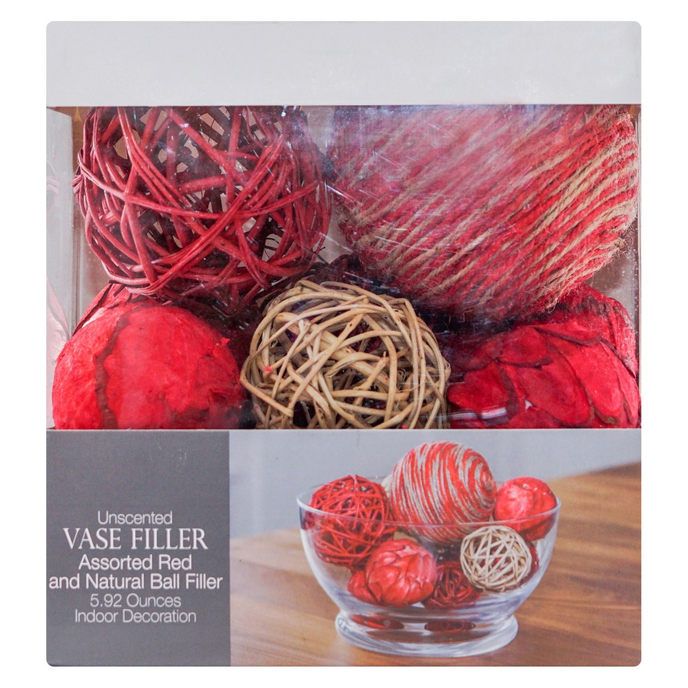 Ball Vase Filler Red 5.92oz - Lloyd & Hannah