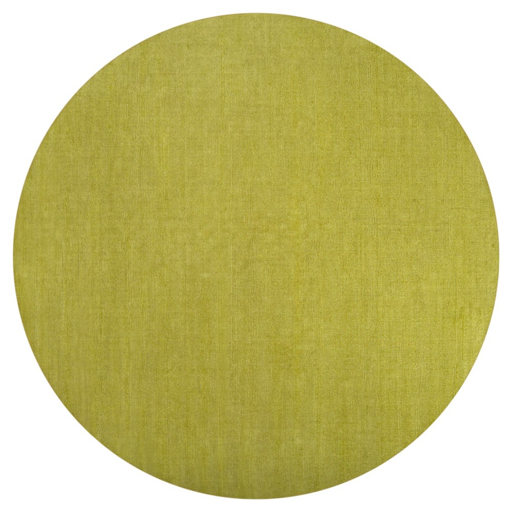 Lime (Green) Solid Loomed Round Area Rug - (8' Round) - Surya