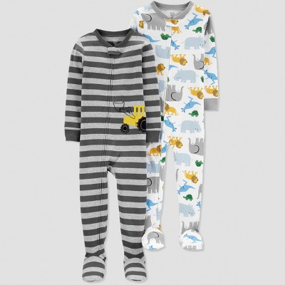 Baby Boys' Construction Pajama Set - Just One You® made by carter's Gray 12M