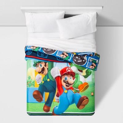 Super Mario Full Trifecta Fun Comforter