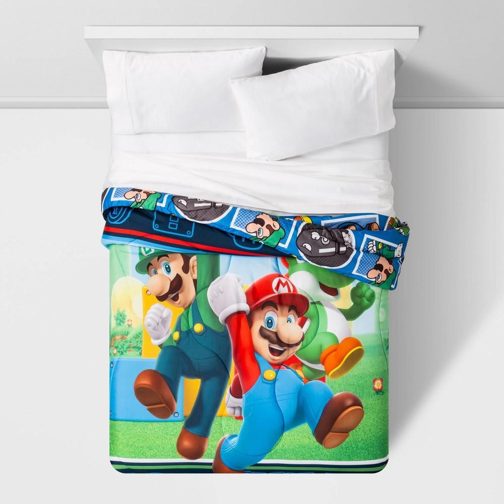 Image of Super Mario Full Trifecta Fun Comforter