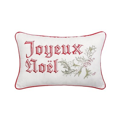 """C&F Home 14"""" x 22"""" Wenham Holly Noel Embroidered Pillow"""