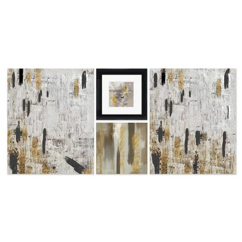 "Elegant Strokes Framed Wall Canvas (40""x20"") - image 1 of 1"