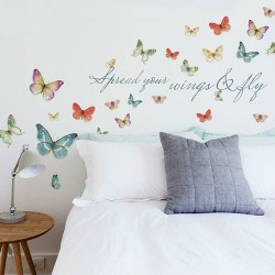 Lisa Audit Butterfly Quote Peel and Stick Wall Decal - RoomMates