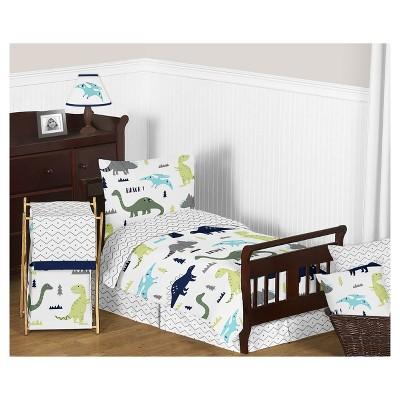 Blue U0026 Green Mod Dinosaur Bedding Set (Toddler)   Sweet Jojo Designs® :  Target