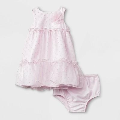 Mia & Mimi Baby Girls' Dot Dress - Pink 18M