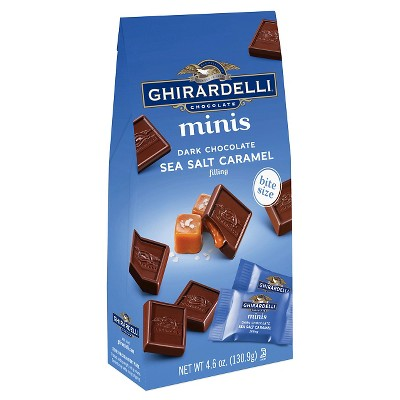 Ghirardelli Dark Chocolate Sea Salt Caramel Minis - 4.6oz