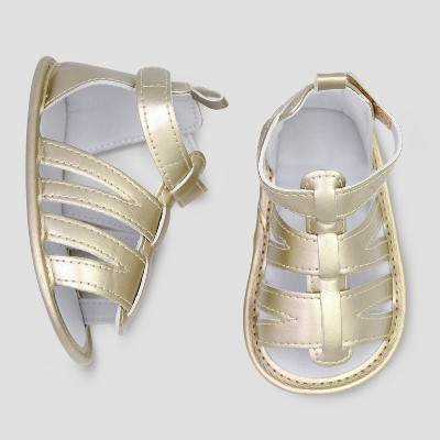 Baby Girls' Gladiator Sandal - Just One You® made by carter's Gold 3-6M