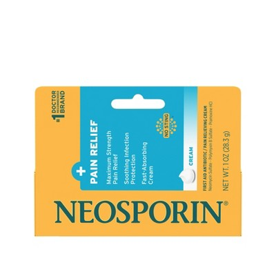 Neosporin Plus Pain Relief Maximum Strength First aid Antibiotic Cream - 1oz