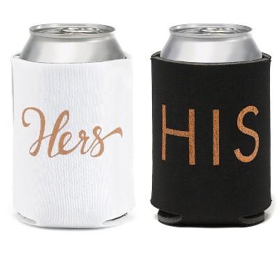 2ct His'& 'Hers' Beverage cozy