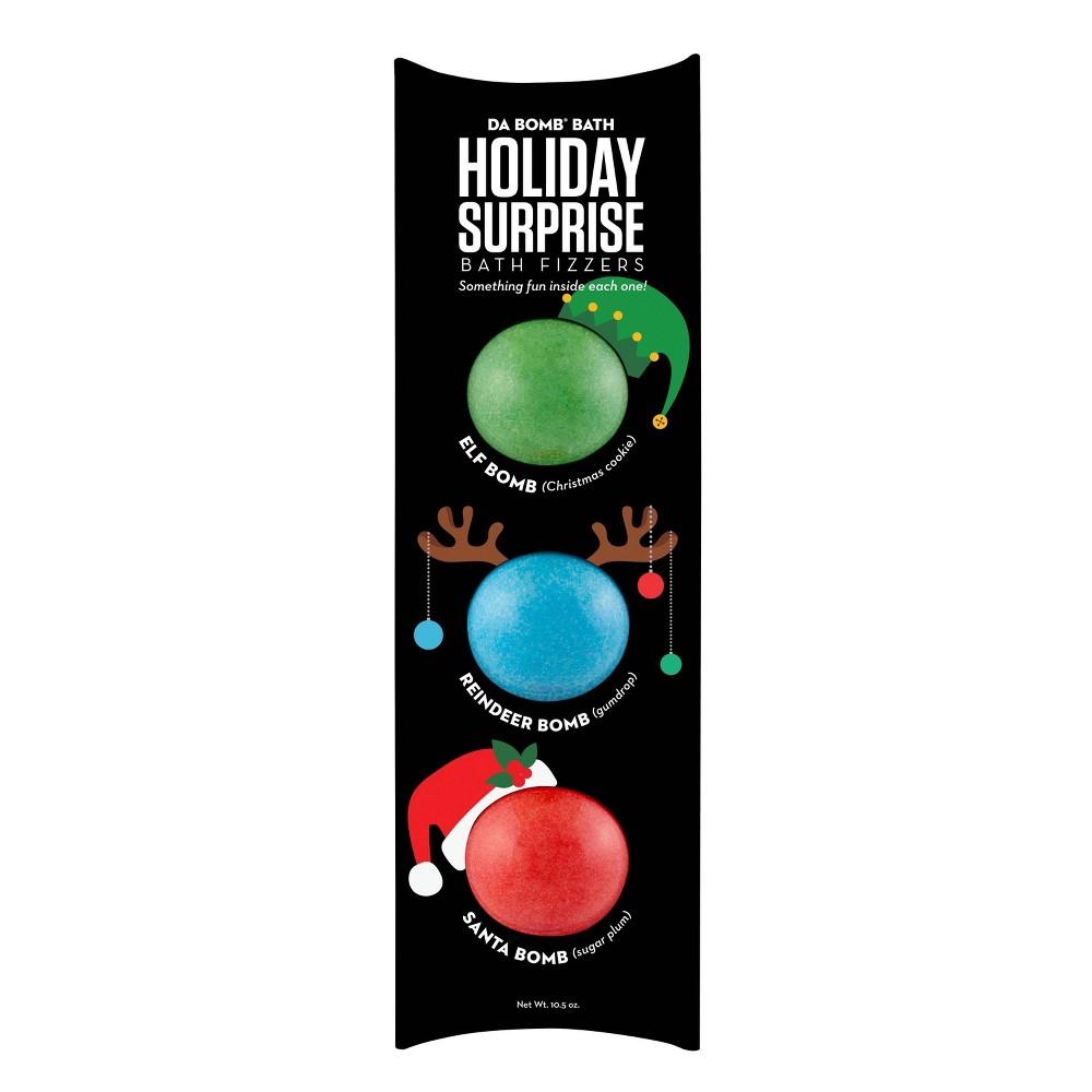 Image of Da Bomb Bath Fizzers Holiday Surprise Novelty Bath Soaks - 10.5oz - 3pk