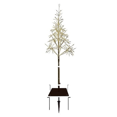 5ft Alpine Festive Golden Artificial Christmas Tree with Warm White LED Lights