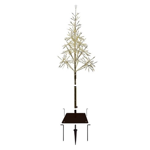 5ft Alpine Festive Golden Artificial Christmas Tree with Warm White LED Lights - image 1 of 4