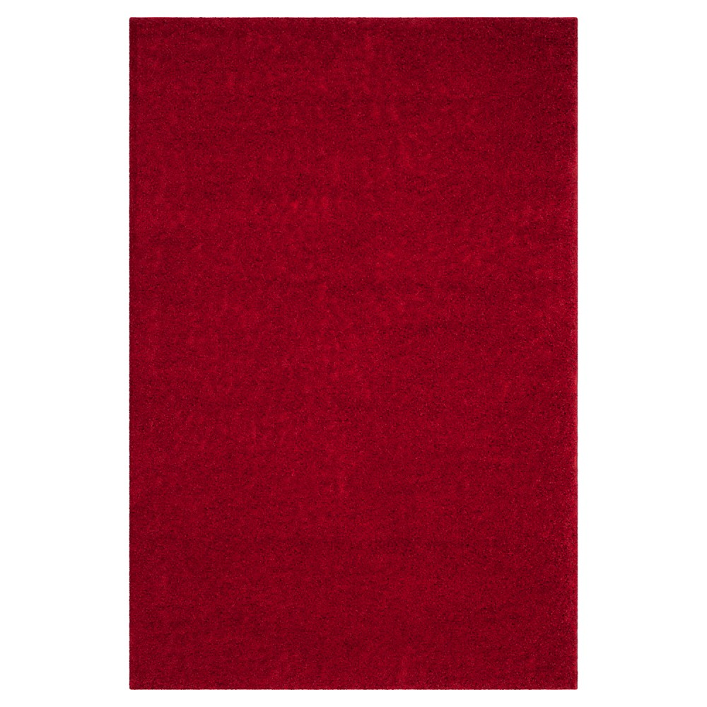 Red Solid Loomed Area Rug - (5'1
