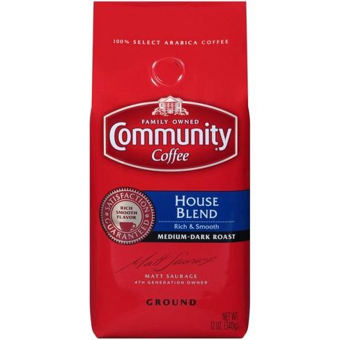 Community Coffee House Blend Medium Dark Roast Ground Coffee - 12oz - image 1 of 7