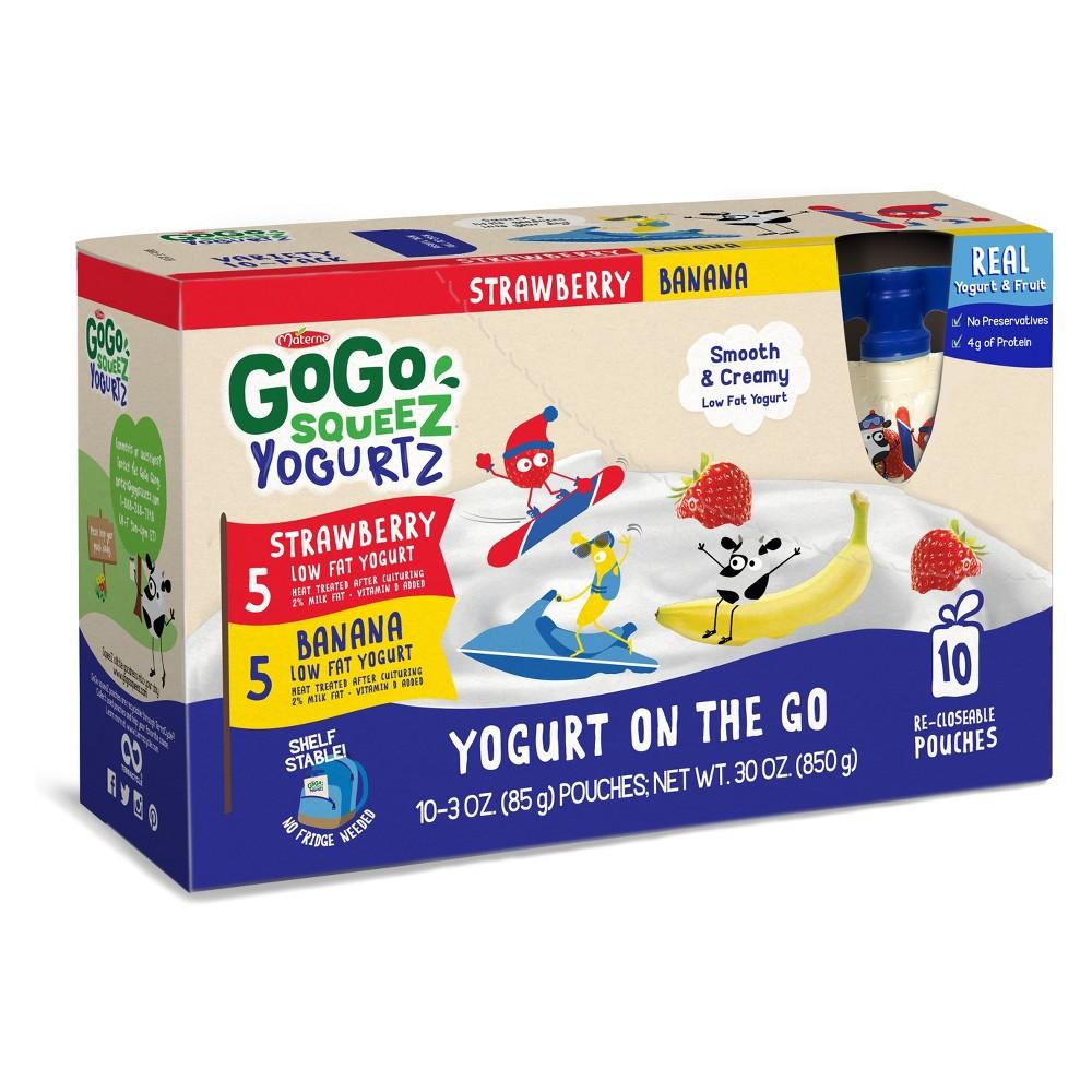 Gogo Squeez Strawberry Banana Yogurt On The Go - 30oz