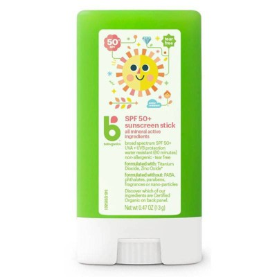 Babyganics Pure Mineral Baby Sunscreen Stick, SPF 50 - 0.47oz