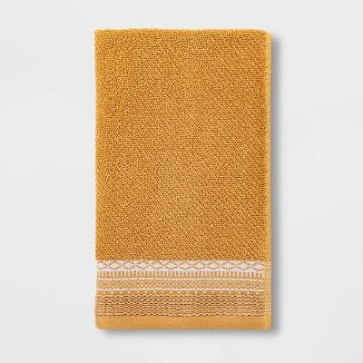 Diamond Border Terry Hand Towel Gold - Threshold™