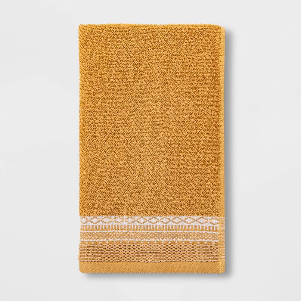 Diamond Border Terry Hand Towel Gold Threshold 8482