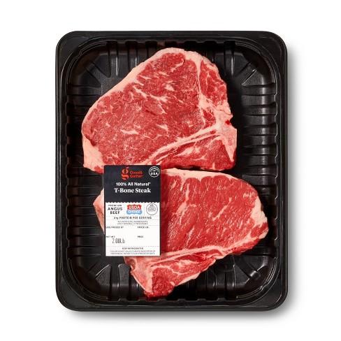 USDA Choice Angus Beef T-Bone Steak - 1.58-2.63 lbs - price per lb - Good & Gather™ - image 1 of 4