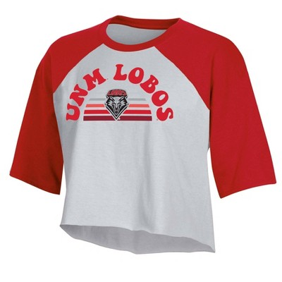 NCAA New Mexico Lobos Women's Short Sleeve Cropped T-Shirt