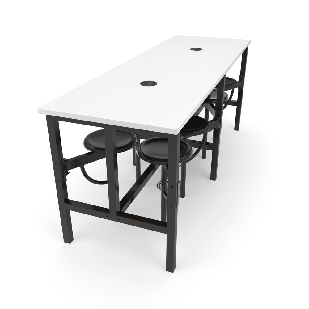 Image of 8 Seat Endure Series Standing Table White Dry Erase Top - OFM