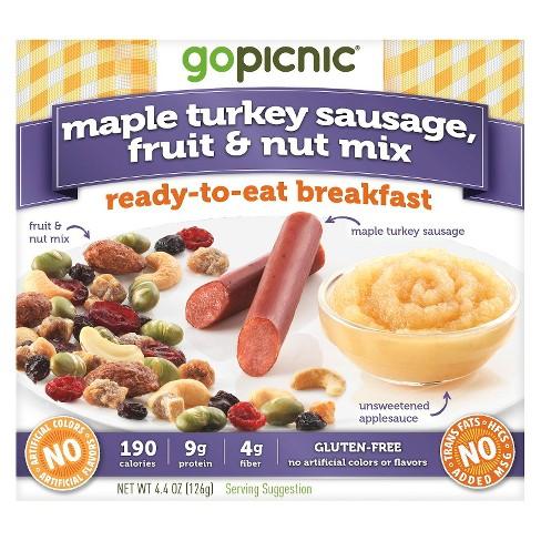 GoPicnic Maple Turkey Sausage-Fruit & Nut Mix Ready-To-Eat Breakfast - 4.5oz - image 1 of 1