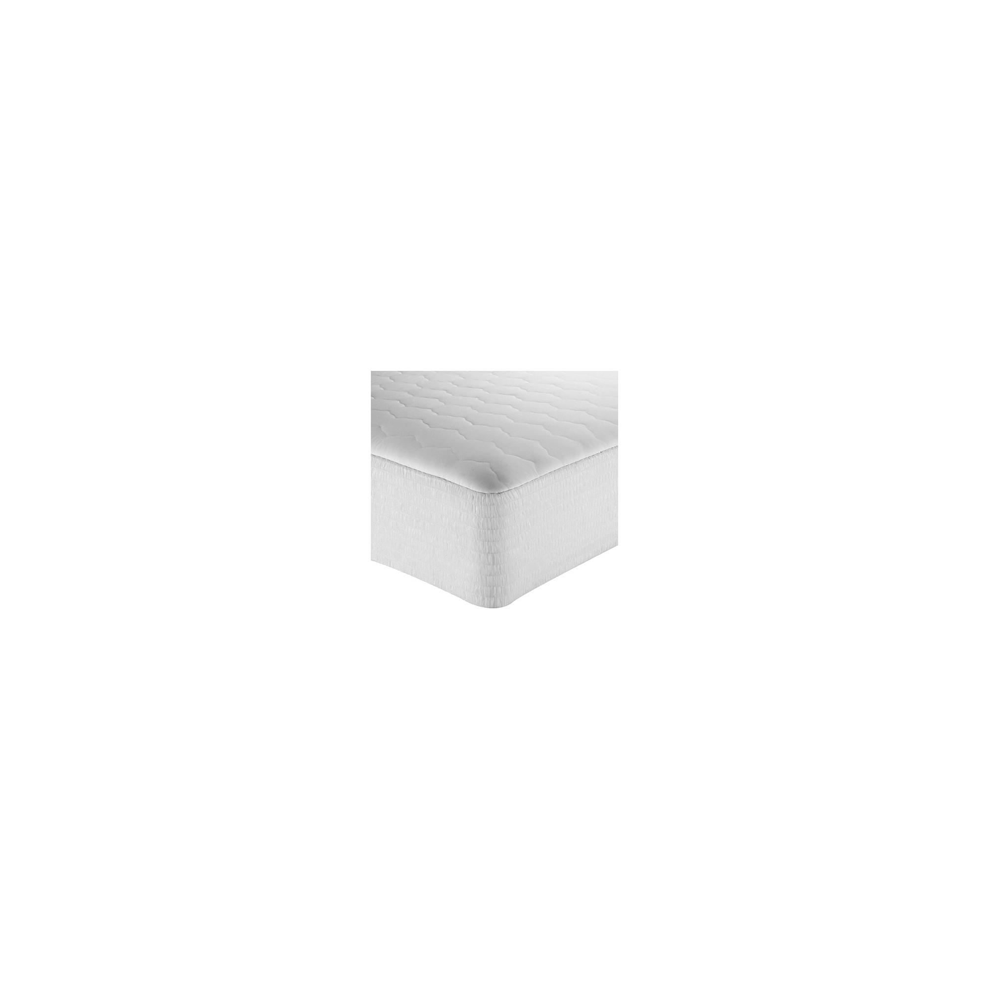 Twin-Size 200 Thread Count Cotton Mattress Pad, White