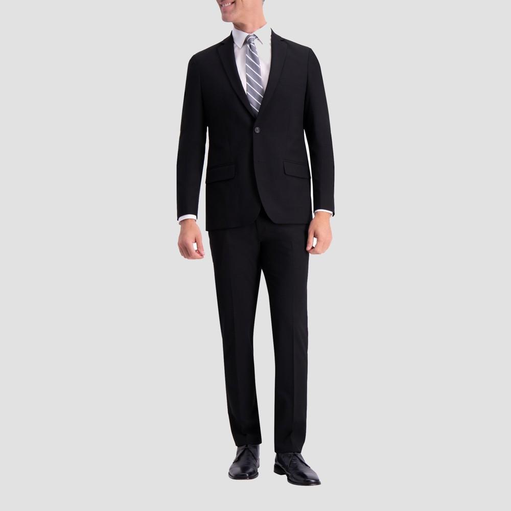 Haggar H26 Men's Slim Fit Premium Stretch Suit Jacket - Black 38 Short