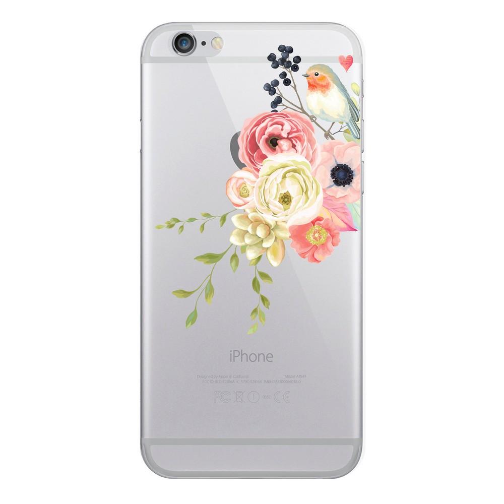 iPhone 8 Plus/7 Plus/6s Plus/6 Plus Case Hybrid Spring Bird Clear - Otm Essentials, Multi-Colored