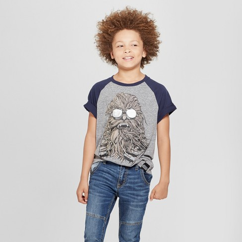 Boys' Star Wars Chewbacca Short Sleeve T-Shirt - Charcoal Heather - image 1 of 3