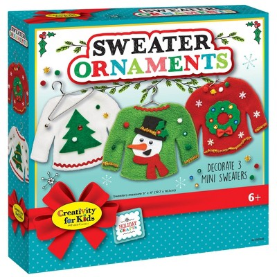 Creativity for Kids Holiday Sweater Ornaments Kit
