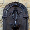 "27""H Polystone Florence Wall-Mounted Electric Water Fountain - Iron Finish - Sunnydaze Decor - image 2 of 4"