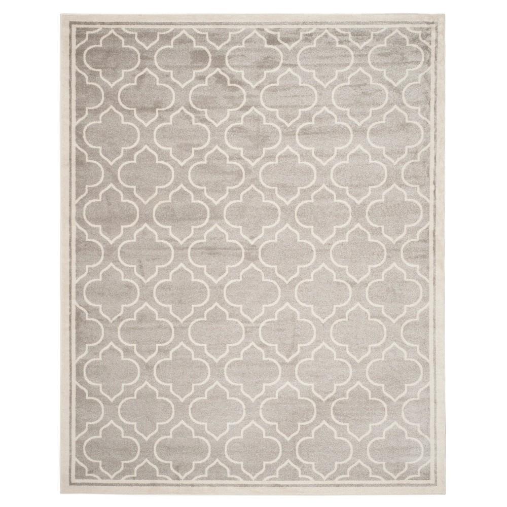 Coco 8'x10' Indoor/Outdoor Rug - Light Gray/Ivory - Safavieh