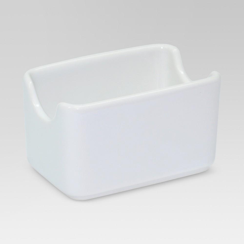 Porcelain Sugar Packet Holder White Threshold 8482