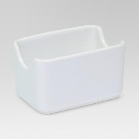 Porcelain Sugar Packet Holder White Threshold Target